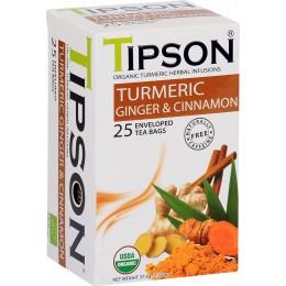 Ceai Tipson Organic Turmeric Ginger 25 Pliculete