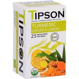 Ceai Tipson Organic Turmeric Ginger & Lemon 25 Pliculete