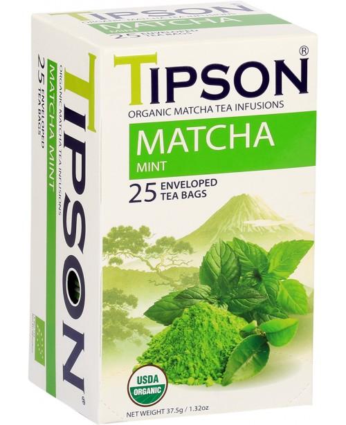 Ceai TIpson Organic Matcha Mint 25 Pliculete