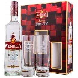 Wembley Dry Gin cu 2 Pahare 0.7L