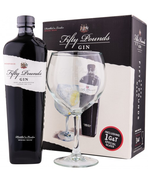 Fifty Pounds Gin cu Pahar 0.7L