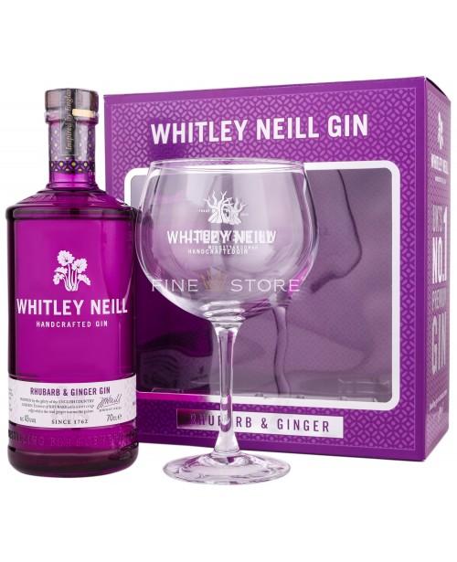 Whitley Neill Rubarba Si Ghimbir Gin Cu Pahar 0.7L