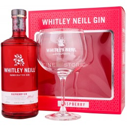 Whitley Neill Zmeura Gin Cu Pahar 0.7L
