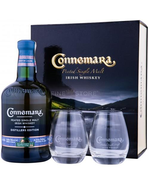 Connemara Distilers Edition Peated cu 2 Pahare 0.7L