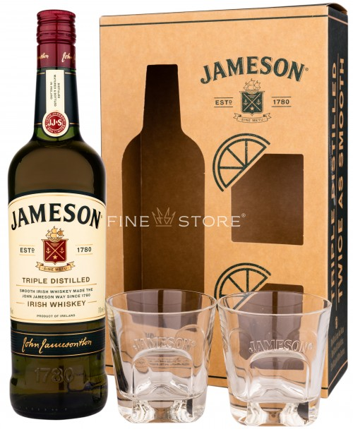 Jameson Cu 2 Pahare 0.7L