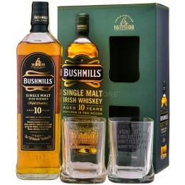 Bushmills 10 Ani cu 2 Pahare 0.7L