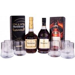 Pachet Hennessy VS & VSOP Privilege 0.7L cu 6 Pahare