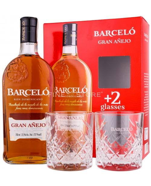 Barcelo Gran Anejo Ron Cu 2 Pahare 0.7L