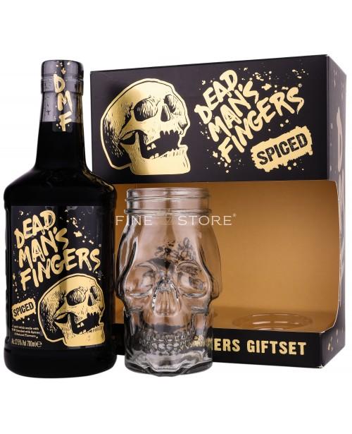 Dead Man's Fingers Spiced Rum Cu Pahar 0.7L