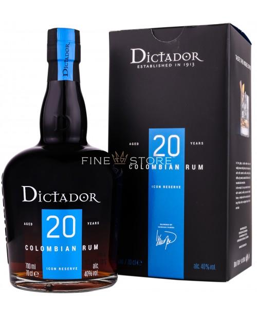 Dictador 20 Ani Cutie Cadou 0.7L