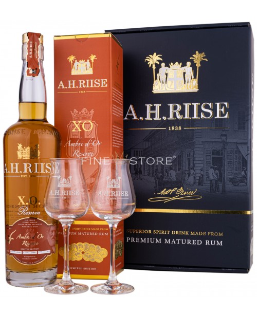A.H.Riise XO Ambre D'Or Reserve Cu 2 Pahare 0.7L