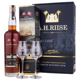 A.H.Riise Royal Danish Navy Cu 2 Pahare 0.7L