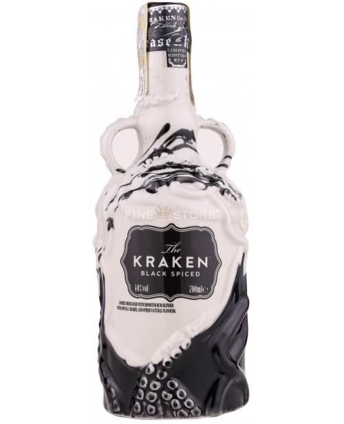 "Kraken Black Spiced ""The Salvaged Bottle"" Ceramica Editie Limited 0.7L"