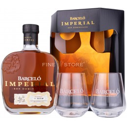 Barcelo Imperial Ron Cu 2 Pahare 0.7L