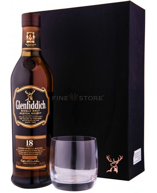 Glenfiddich 18 Ani Cu Pahar si Suport 0.7L