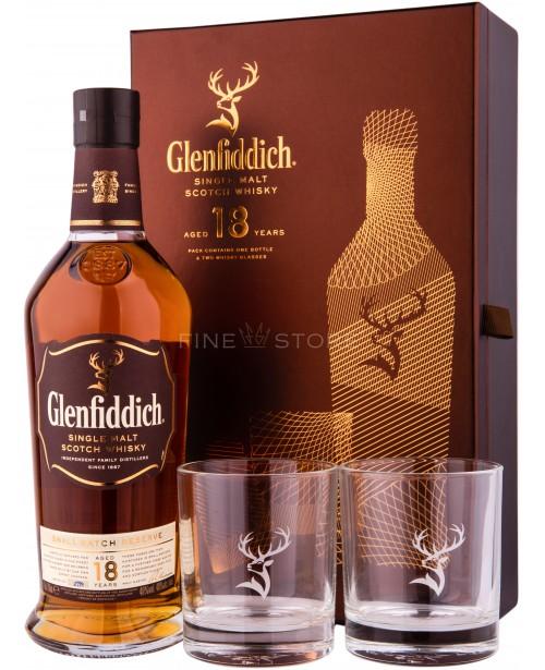 Glenfiddich 18 Ani Cu 2 Pahare 0.7L