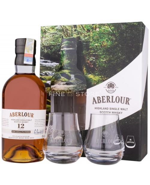 Aberlour 12 Ani Non Chill-Filtered cu 2 Pahare 0.7L