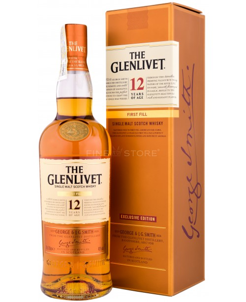 Glenlivet 12 Ani First Fill 0.7L Top