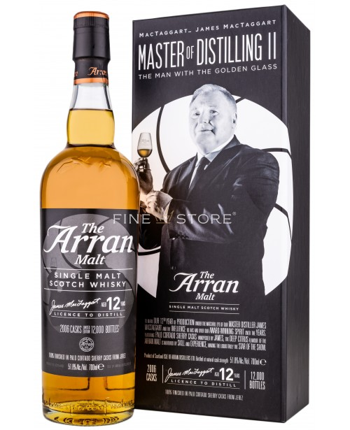 Arran Master Of Distilling II The Man With The Golden Glass 12 Ani 0.7L