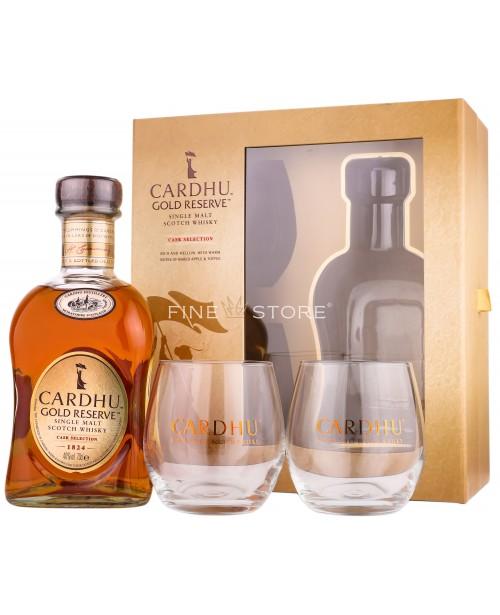 Cardhu Gold Reserve cu 2 Pahare 0.7L