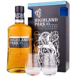 Highland Park 10 Ani Viking Scars Cu 2 Pahare 0.7L