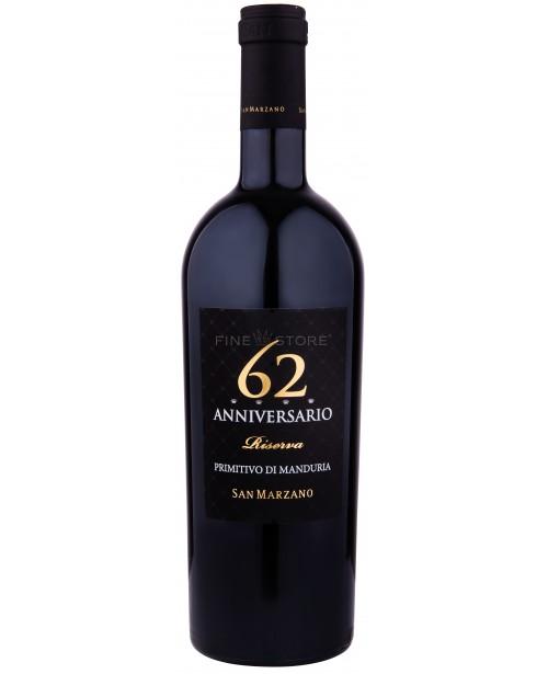 San Marzano Anniversario 62 Primitivo Di Manduria Riserva 0.75L