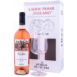 Purcari Vinohora Rose Feteasca Neagra & Montepulciano cu Pahar 0.75L