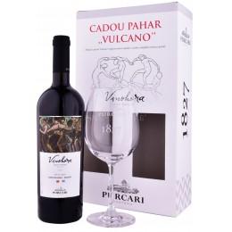 Purcari Vinohora Rosu Rara Neagra & Malbec cu Pahar 0.75L