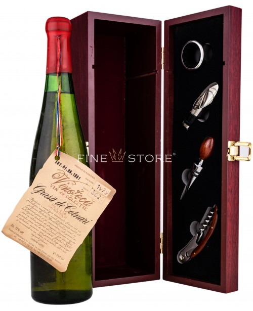 Cotnari Vinoteca Grasa De Cotnari 1979 Cutie Lemn Set Somelier Cadou 0.75L Top
