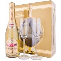 Angelli Cuvee Gold Dulce cu 2 Pahare 0.75L