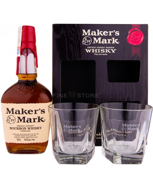 Maker's Mark Red cu 2 Pahare 0.7L