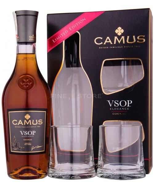 Camus VSOP Elegance cu 2 Pahare 0.7L