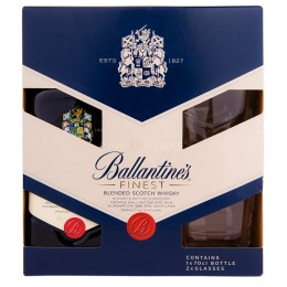 Ballantine's cu 2 Pahare 0.7L