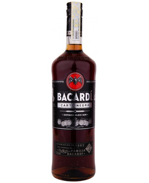 Bacardi Carta Negra Black 1L Top