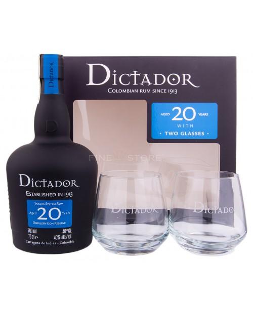 Dictador 20 Ani cu Pahare 0.7L
