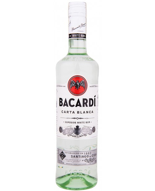 Bacardi Carta Blanca White 0.7L Top