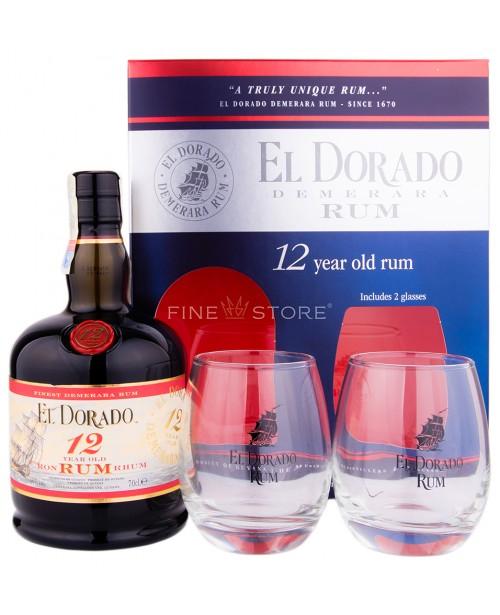 El Dorado 12 Ani Cu 2 Pahare 0.7L