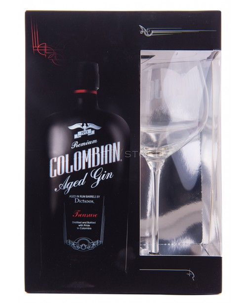 Dictador Colombian Aged Gin Treasure cu Pahar 0.7L