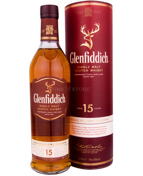 Glenfiddich 15 Ani Solera 0.7L Top