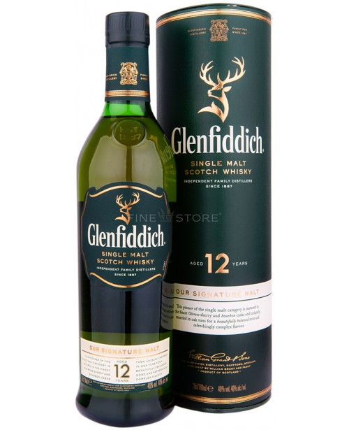 Glenfiddich 12 Ani 0.7L Top
