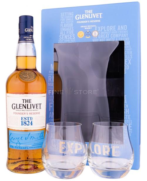 Glenlivet Founder's Reserve cu 2 Pahare 0.7L