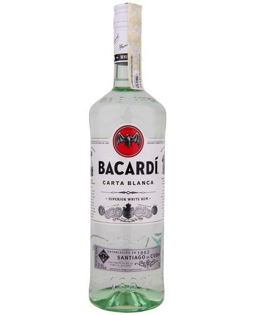 Bacardi Carta Blanca White 1L Top