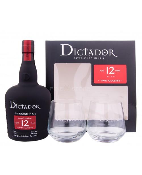 Dictador 12 Ani cu Pahare 0.7L