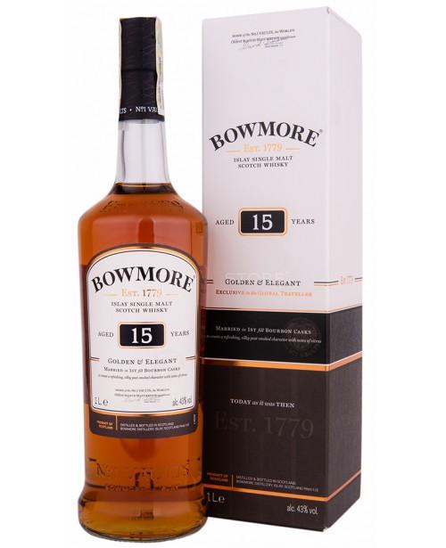 Bowmore 15 Ani Golden & Elegant 1L