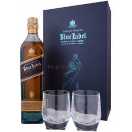 Johnnie Walker Blue Label cu 2 Pahare Cristal Editie Limitata 0.7L
