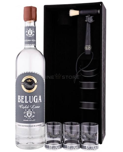 Beluga Gold Line Cu 3 Pahare  Shot 0.7L