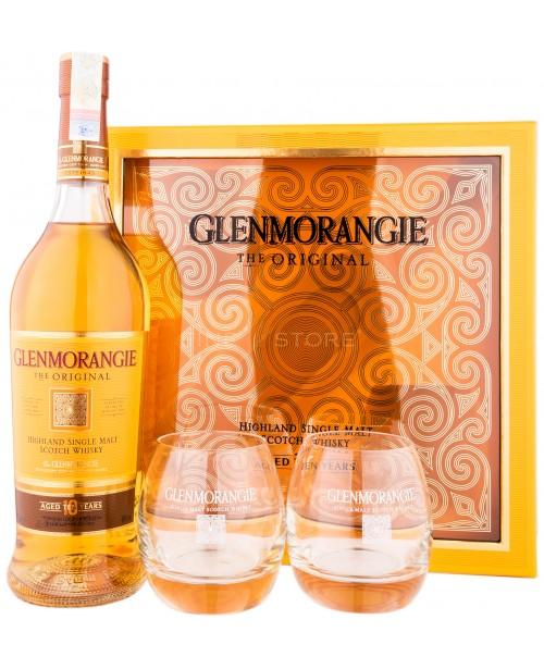 Glenmorangie 10 Ani cu 2 Pahare Mirrors 0.7L
