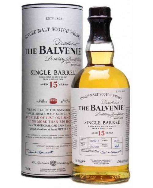 Balvenie 15 Ani Single Barrel 0.7L Top