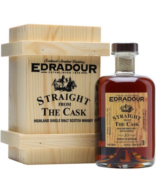 Edradour 10 Ani Straight from The Cask Old Sherry Butt 0.5L