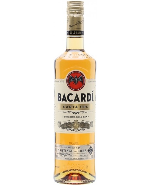 Bacardi Carta Oro Gold 0.7L Top